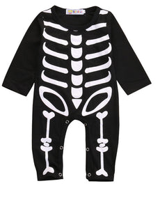 Halloween Party Skull Romper