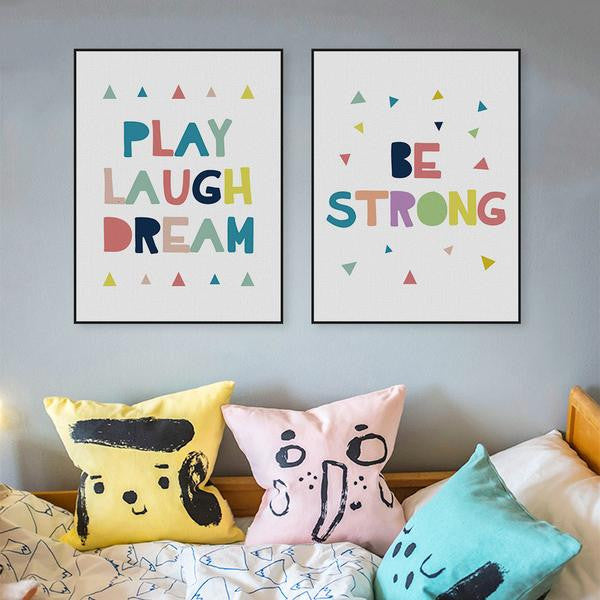 Be Strong Canvas Art Poster