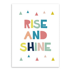Rise And Shine Canvas Art Poster