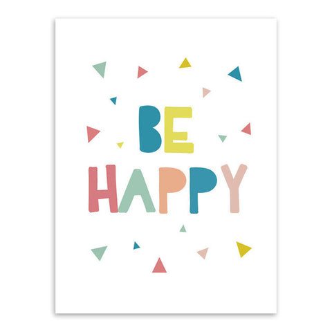 Be Happy Canvas Art Poster