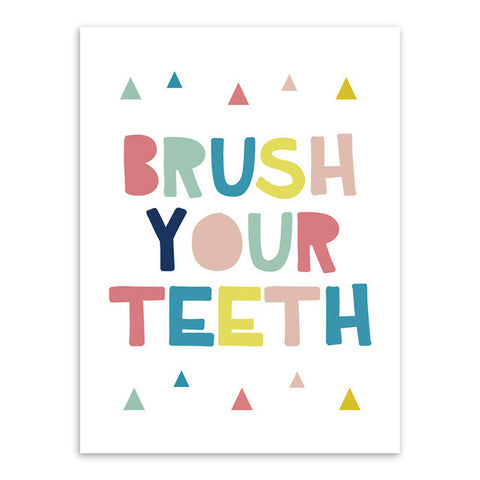 Brush Your Teeth Canvas Art Poster
