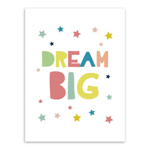 Dream Big Canvas Art Poster