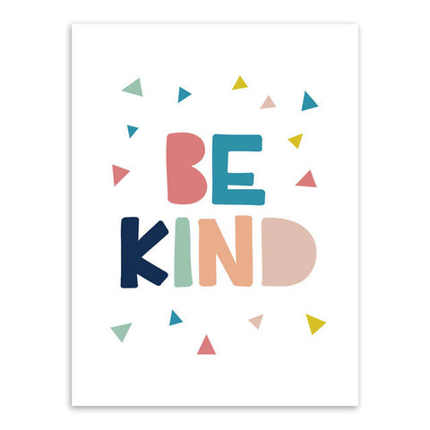 Be Kind Canvas Art Poster