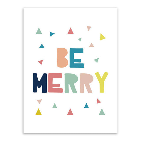 Be Merry Canvas Art Poster