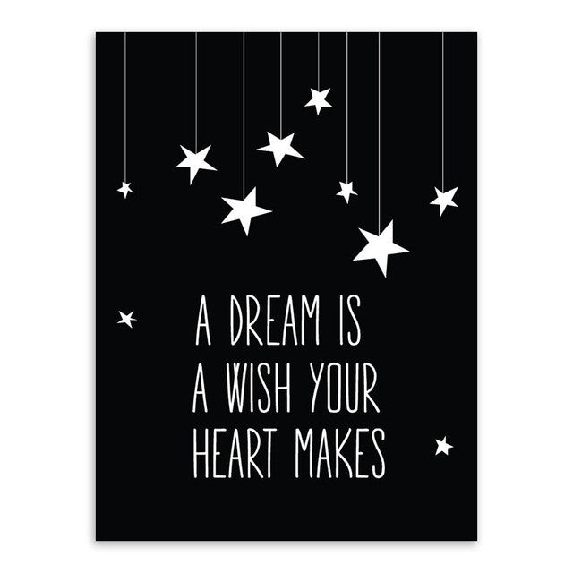 A Dream Is A Wish Canvas Art Poster