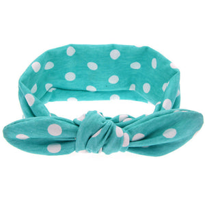 The Mia Headband (Blue Polka Dot)