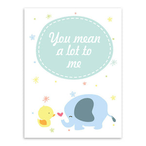 You Mean A Lot To Me Canvas Art Poster