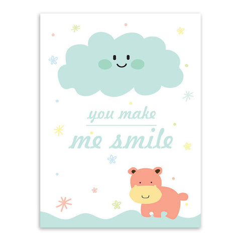 You Make Me Smile Canvas Art Poster