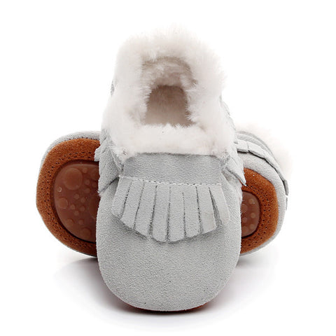 Genuine Suede Hard Sole Baby Shoes