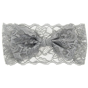 The Aria Lace Headband (Grey)