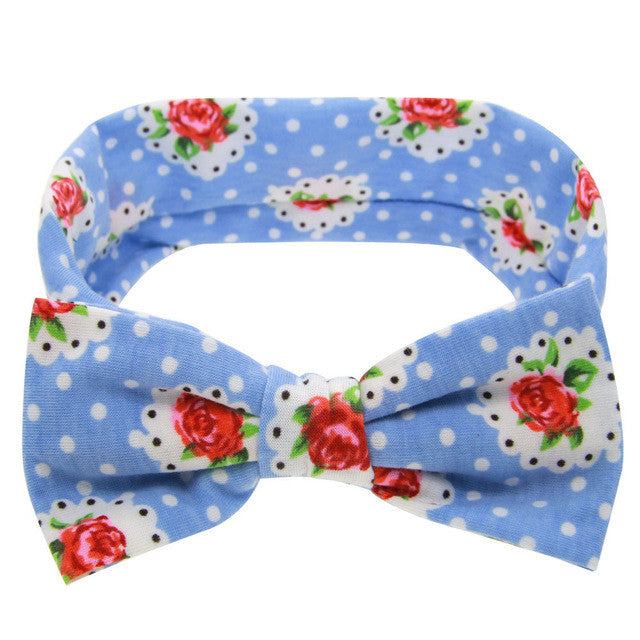 The Riley Headband (Red Flowers)