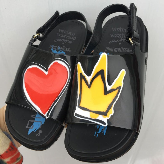 Crown and Heart Sandals
