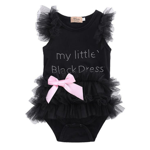 "Sleeveless Tutu ""Little Black Dress"" Bodysuit"