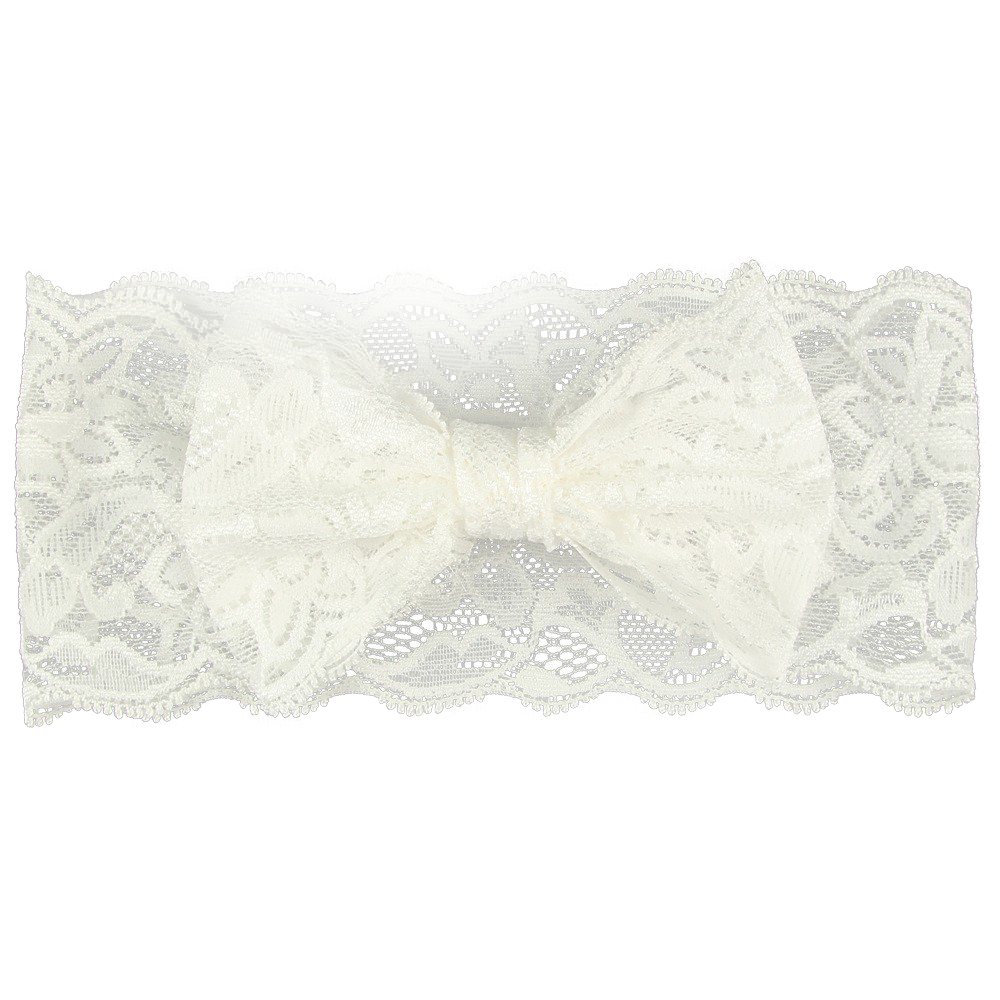 The Aria Lace Headband (White)