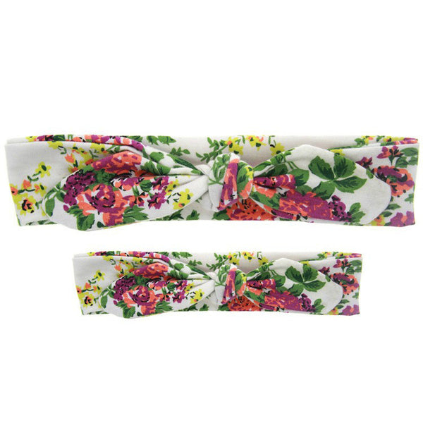 Mommy & Me Headband Set (White Floral)