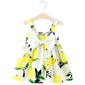 Lemon Bow Sundress (Yellow)