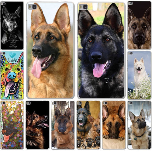 Free German Shepherd Dog Cover Case for Huawei Honor 6 7 8 Lite 4C 4X G7