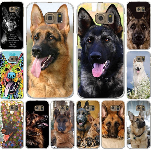 Free German Shepherd Dog Phone Case for Samsung Galaxy A3 A5 J5 2016 2017 & Note 4 3 Cover