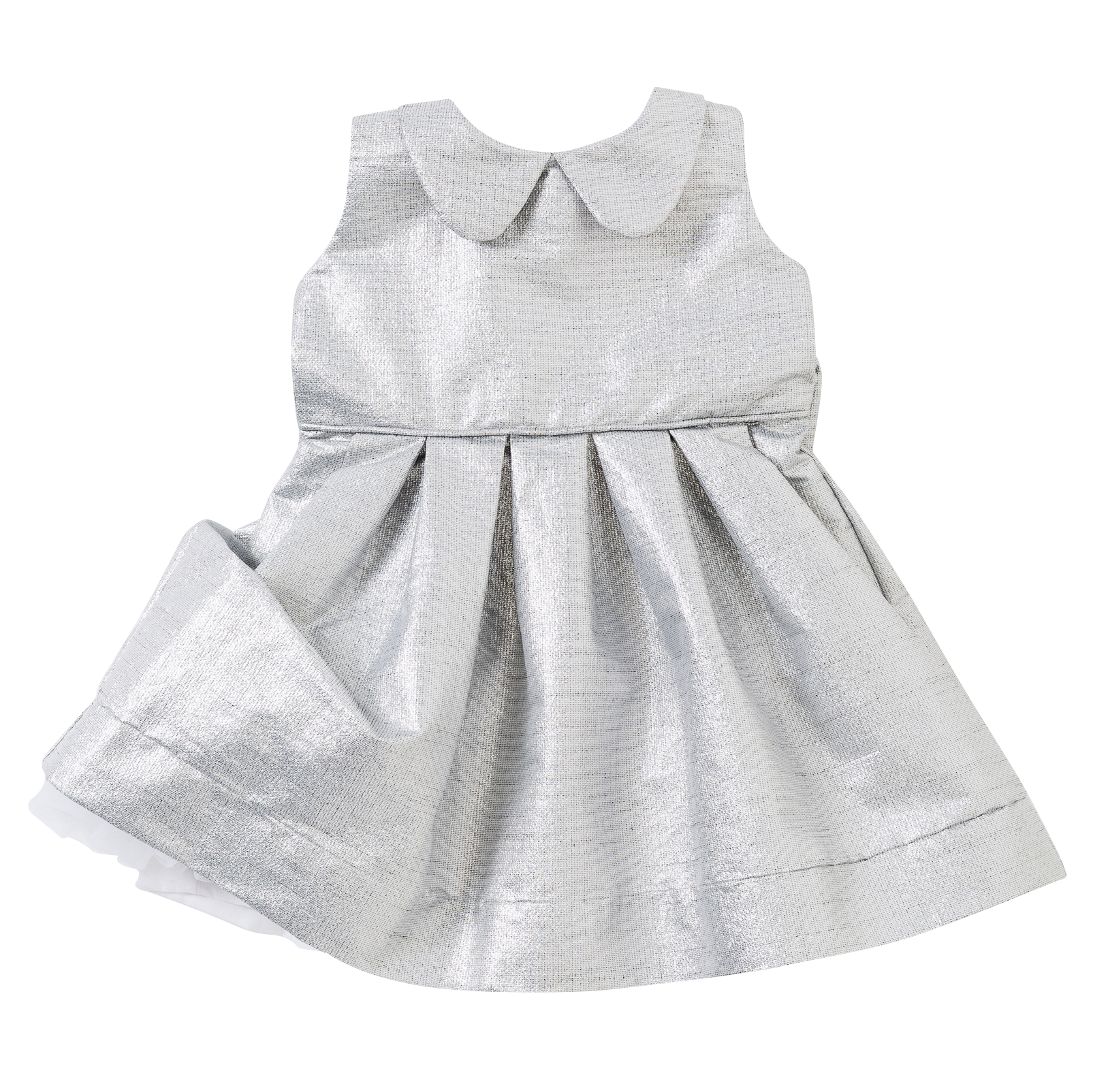 The Peter Pan Dress in Silver