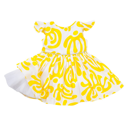 The Aria Dress in Yellow Dancers