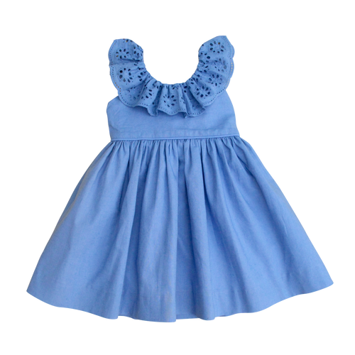 The Poppy Dress in Sky Blue