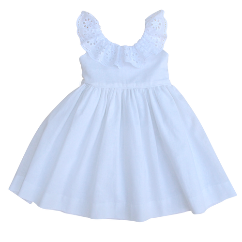 The Poppy Dress in French White