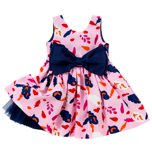 The Bow Dress in Pink Collage