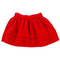 The Pin Tuck Skirt in Red