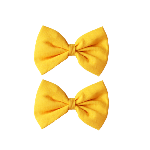 Girls Bow Clip Buttercup Yellow The House of Fox