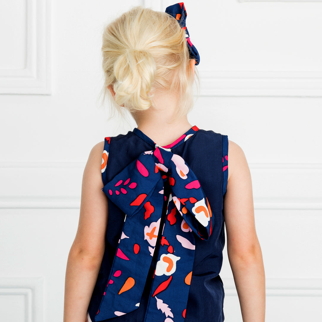 The Coco Top in Navy Collage