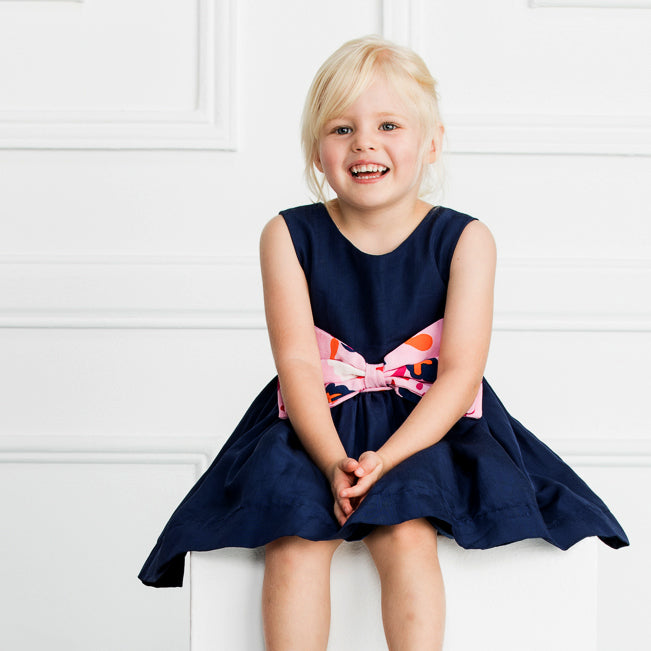 The Bow Dress in Navy