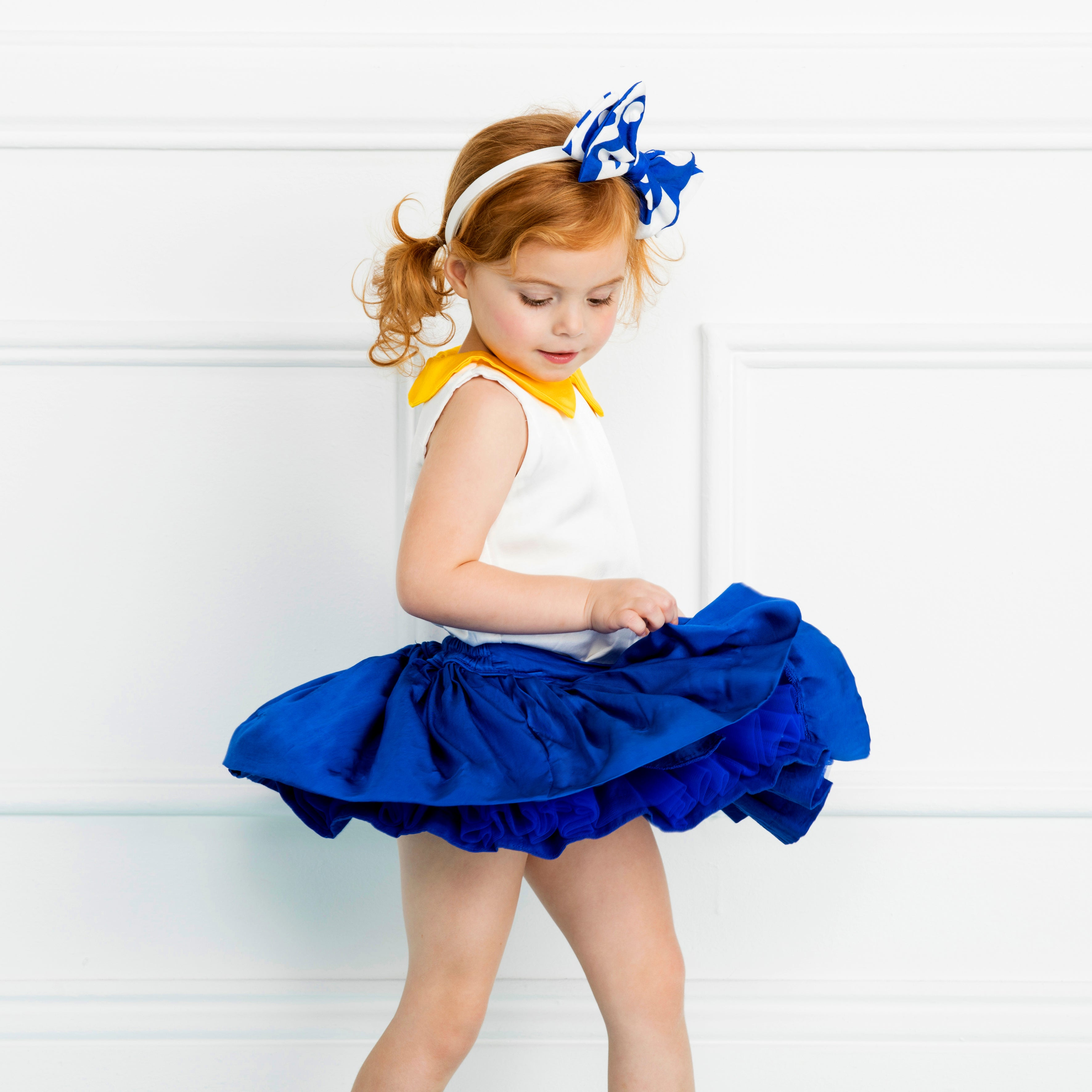 Side Bow Headband in Blue Dancers