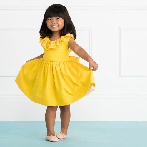 The Poppy Dress in Buttercup