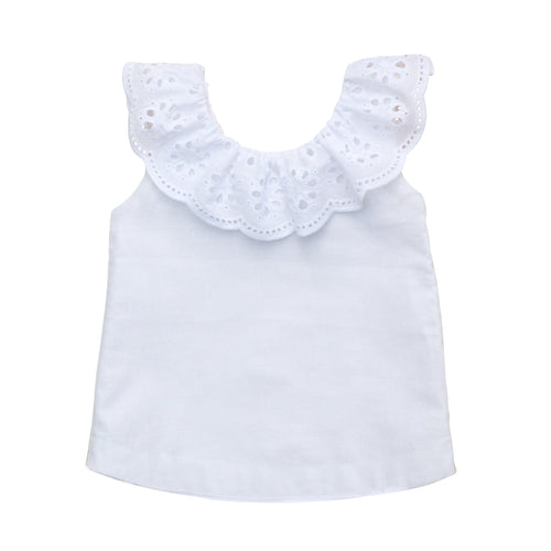 The Poppy Top in French White