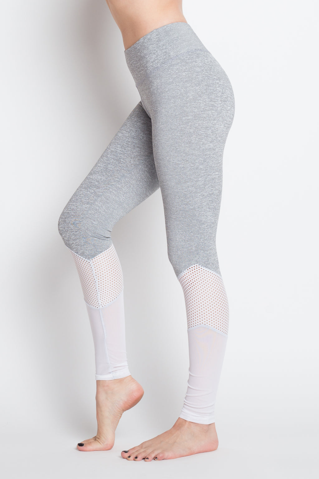 BROOKLYN LEGGINGS – LIGHT GREY WITH WHITE