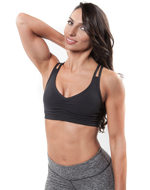 MUSCLE MESH SPORTS BRA – BLACK
