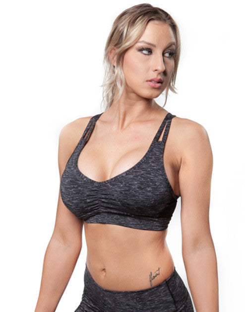 MUSCLE MESH SPORTS BRA – BLACK SPACE DYE