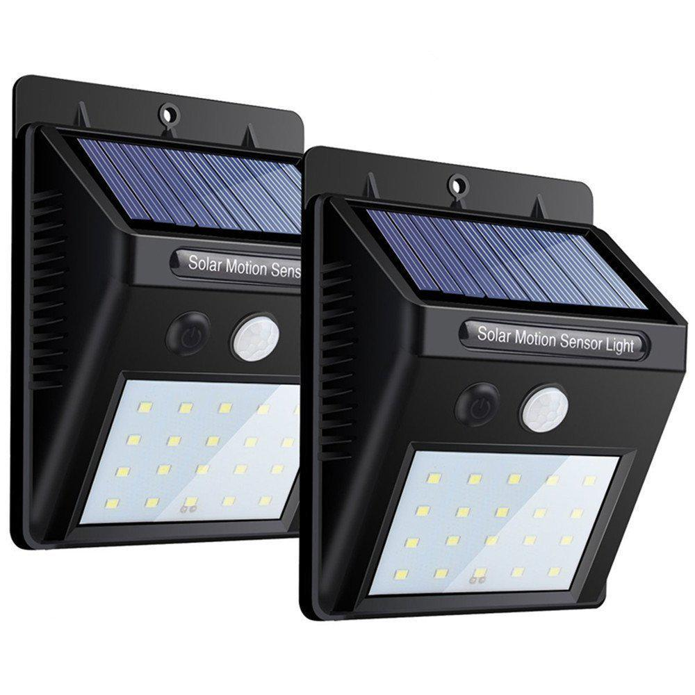 Led Solar Power Motion Sensor Wall Light Outdoor Waterproof Energy Saving Lamp | Edlpe