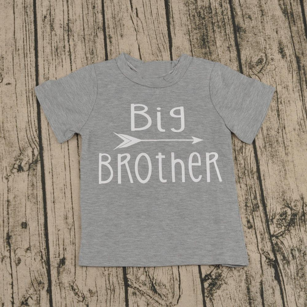 Newborn Baby Boys Short Sleeve Cotton Bodysuit Big Brother T-Shirt Tops Outfits Family Set | Edlpe