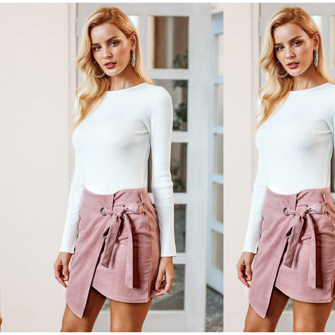 strappy Asymmetric skirt package hip skirt dress