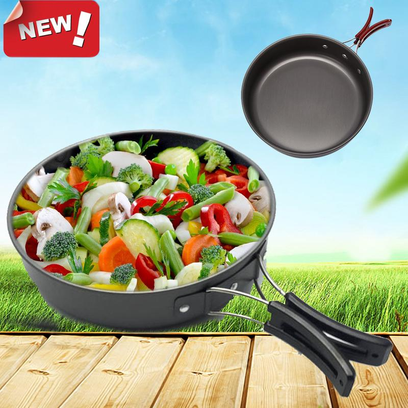 Camping Pan Portable Outdoor Cookware Aluminum Non-Stick Pan Cooking Frying Pan | Edlpe