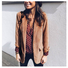 Women fashion Corduroy blazer suit jacket