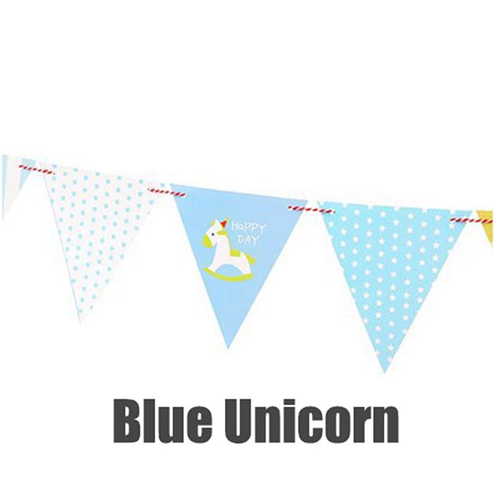 Paper Banner Bunting Hanging Flags Cartoon Triangle Flag Kids Birthday Party Decorations | Edlpe