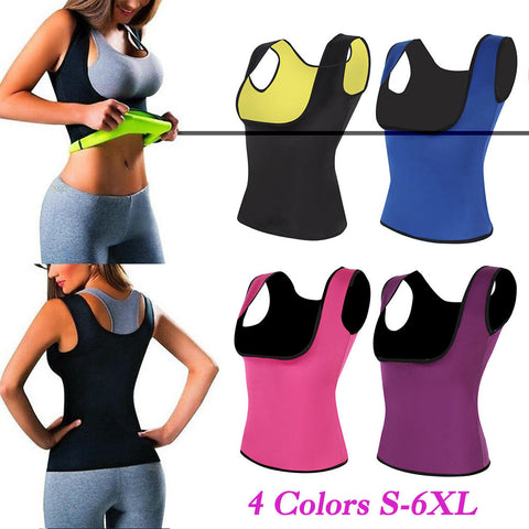 Vest Waist Trainer Body Shaper Slimming Sweating Sauna Tank Top Womens Neoprene Latex Shapewear | Edlpe