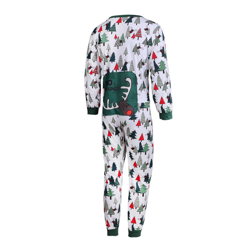 Family Match Dad Mom Kids Baby Christmas Tree Pajamas Rompers Nightwear Set | Edlpe
