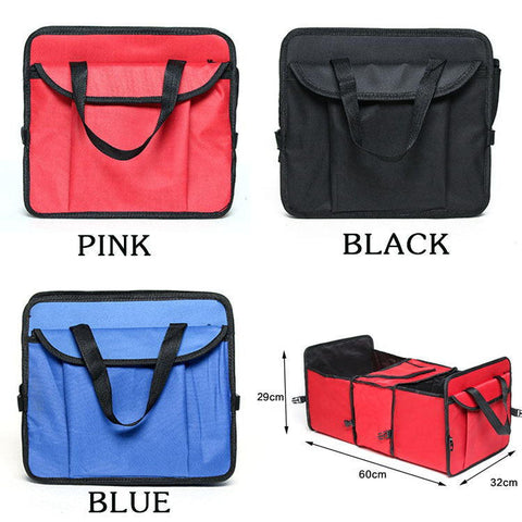 Collapsible Car Trunk Bag Storage Boot Organiser Cooler Tidy Bag Holder Folding | Edlpe