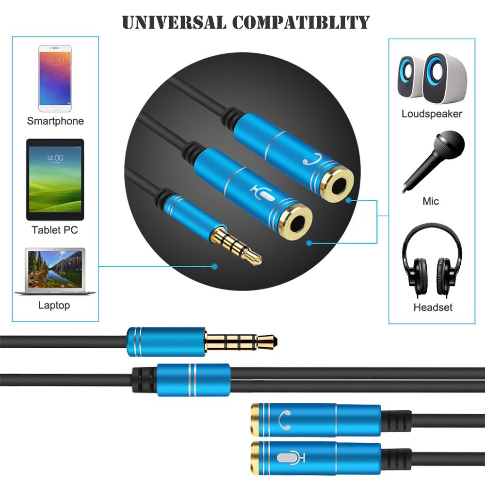 Trrs To 2 Trs Laptop Audio Audio And Mic Adatper Mobilephone Headset Gaming Headset | Edlpe