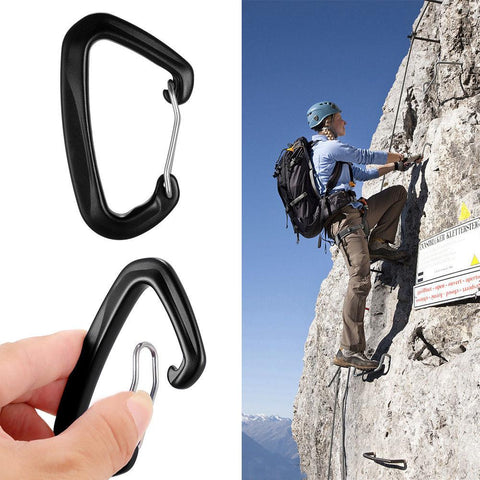 Alloy Aluminum Outdoor Climbing Carabiner Survival Gear D-Ring Quick Clip Hook | Edlpe