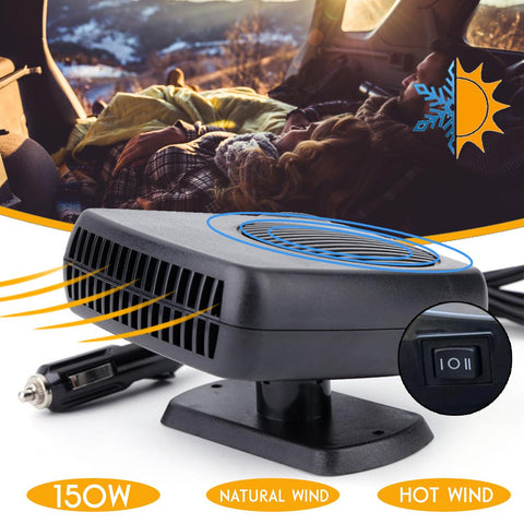 150W 12V Car Truck Auto Heater Hot Cool Fan Windscreen Window Demister Defroster Car Accessories