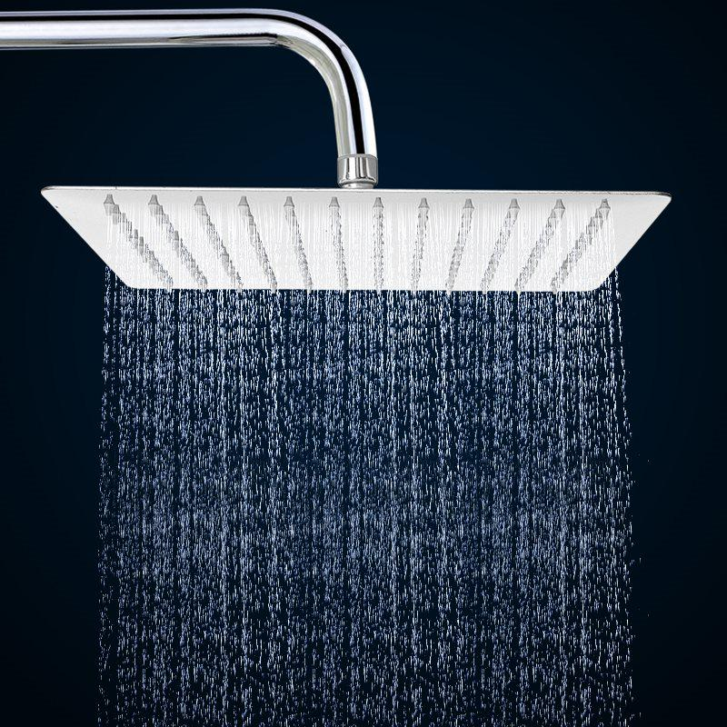 8 Inch Square Rain Shower Head High Pressure Water Saving 304 Stainless Steel | Edlpe